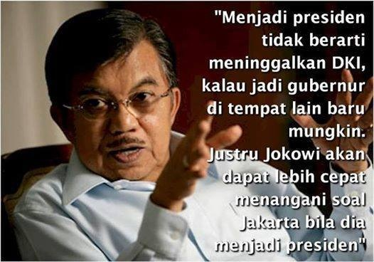 Jusuf Kalla berbicara setelah Jokowi diumumkan jadi capres